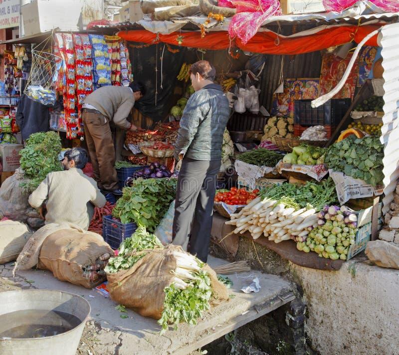 Stalle Jammu Kashmir de légume frais photo libre de droits