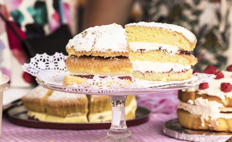 Stalle juste de gâteau d'été photographie stock