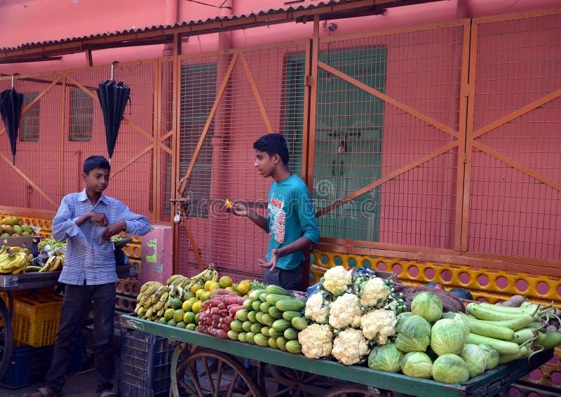 Stalle végétale dans Rishikesh photographie stock