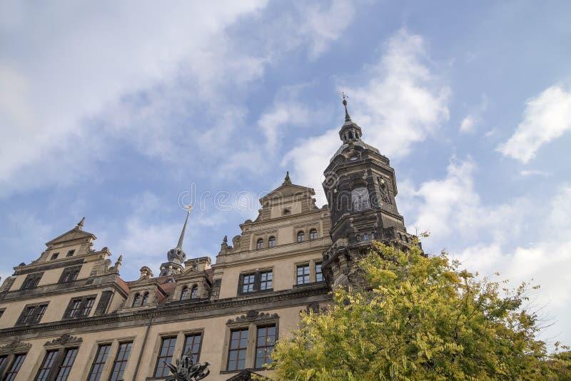 Stallhof in Dresden, Duitsland (Dresdner Residenzschloss, Dresdner Schloss) stock foto