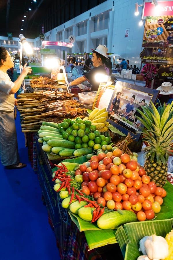 Stalls som säljer mat arkivfoto