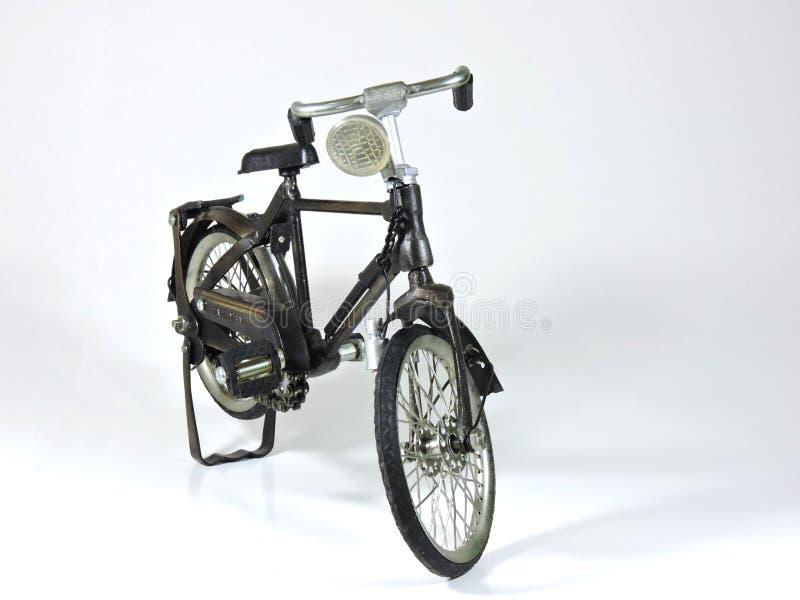 Stalowa bicykl zabawka obraz stock