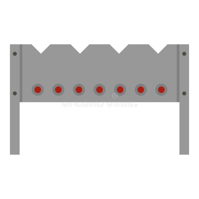 Stalowa brązownik ikona odizolowywająca ilustracja wektor