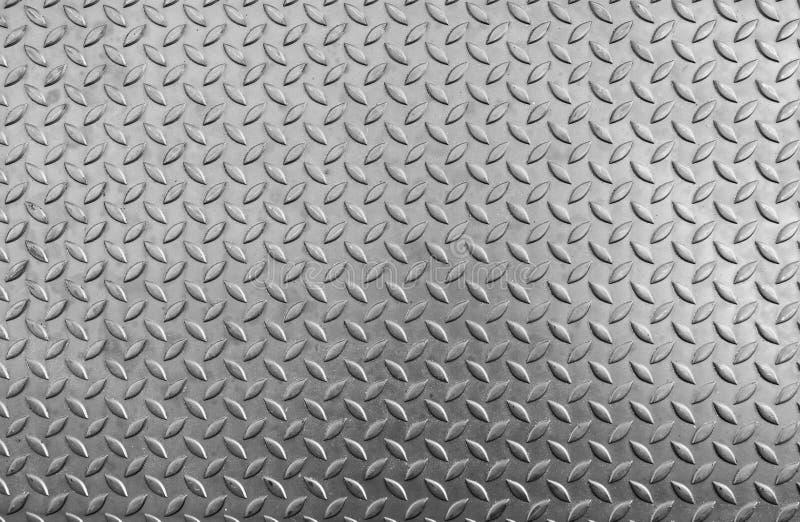 Stalowa checker talerza tekstura i uślizg obraz stock