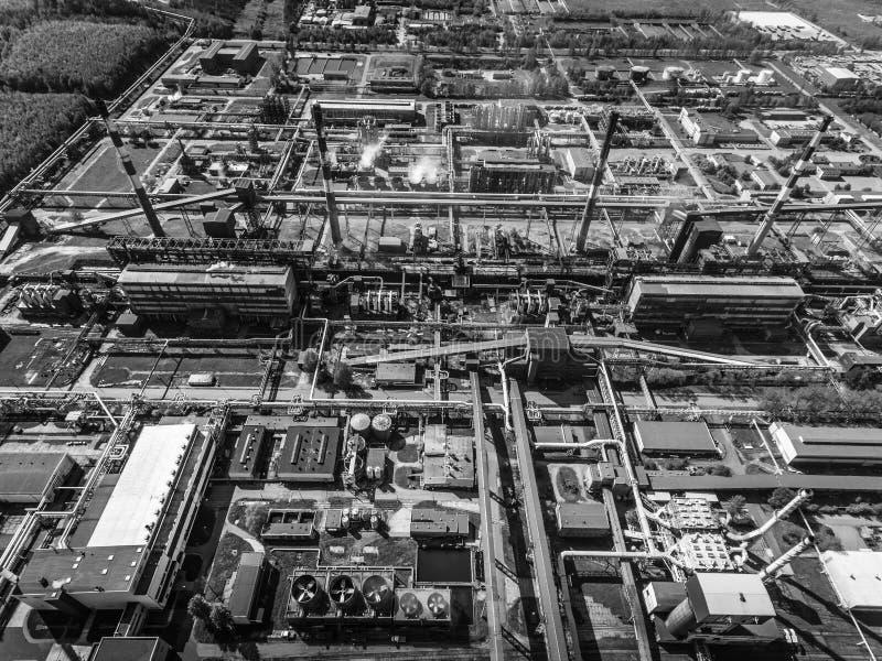 Stalowa fabryka metalurgiczna roślinnych steelworks, żelazo pracy Heav obrazy royalty free