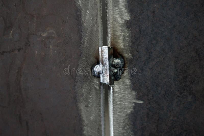 Stalowa spawka łączył spawać proces dla ciśnieniowego naczynia zmyślenia obraz stock