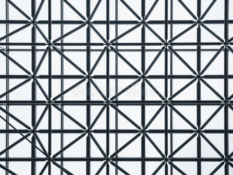 Stalowa struktura wyplata deseniową architektura szczegółu budowę obrazy royalty free