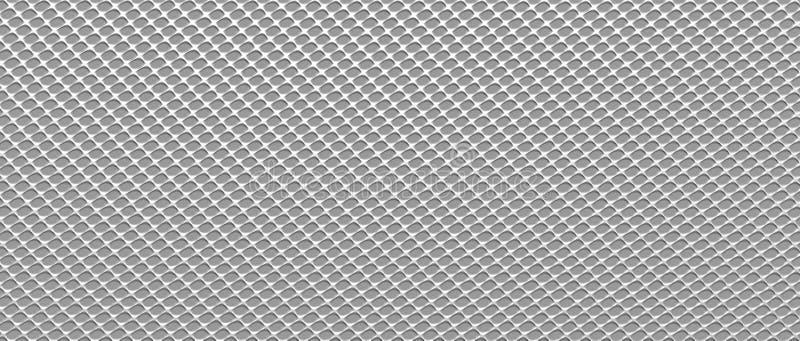 Stalowa tekstura w formularzowej siatce 3 d czynią ilustracja wektor