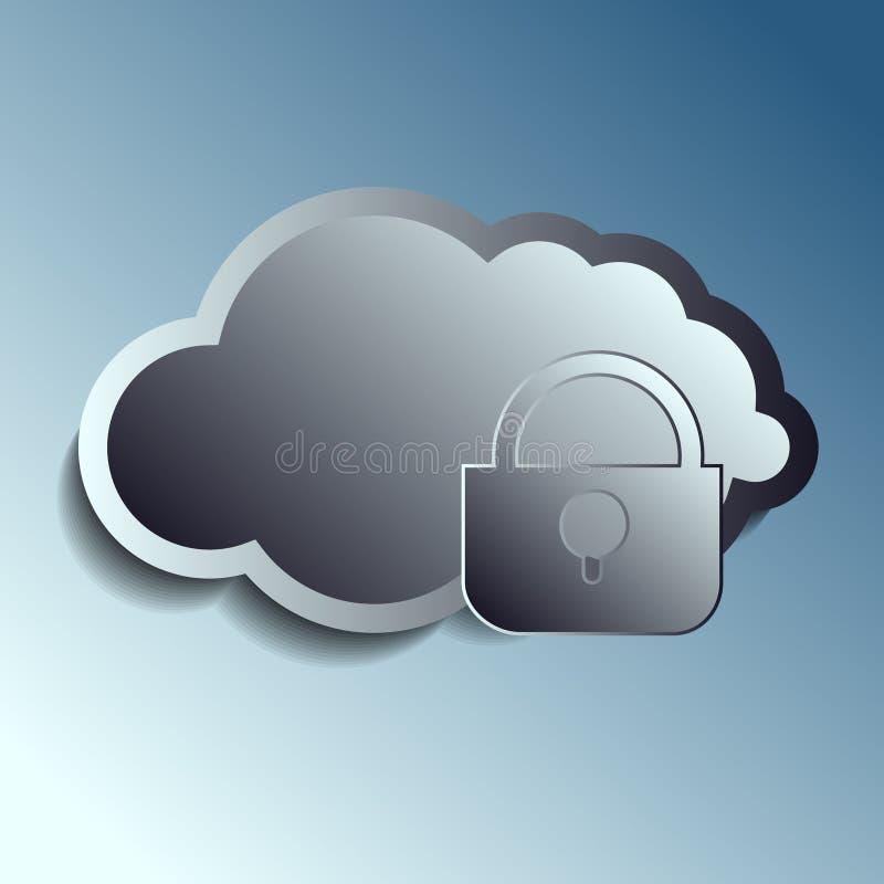 Download Stalowe 3d Wektoru Chmury Securety Ilustracja Wektor - Ilustracja złożonej z najlepszy, guziki: 57674785