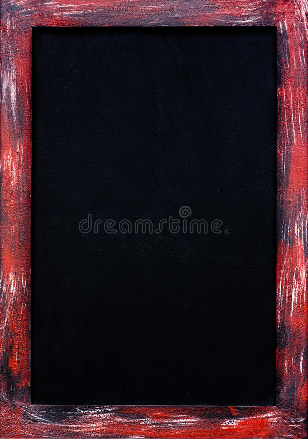 Stalowej ramy blackboard zdjęcie royalty free
