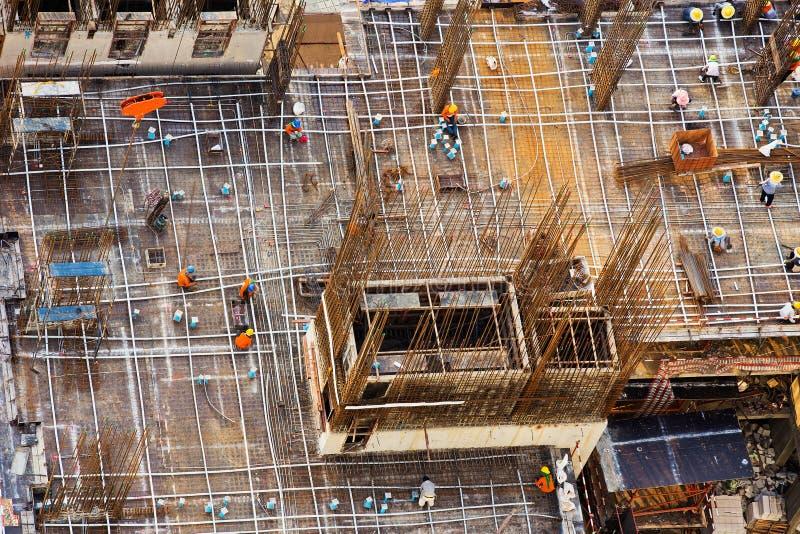 Stalowej struktury budować duży zdjęcie royalty free