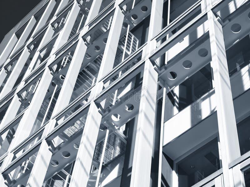 Stalowej struktury budynku przemysł budowlany obrazy stock