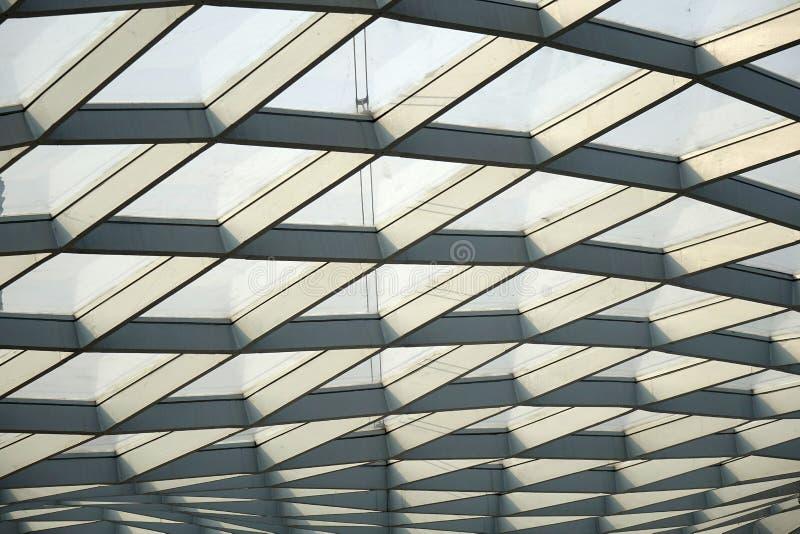 Stalowej struktury dach fotografia stock