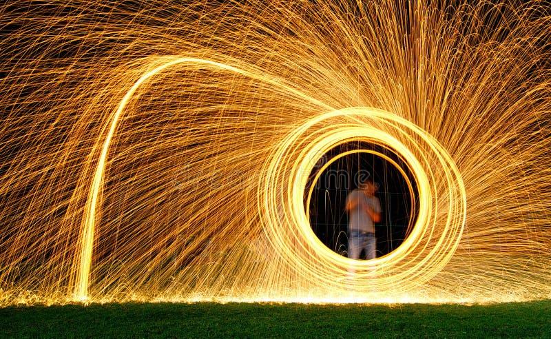 Stalowej wełny światła obraz fotografia royalty free