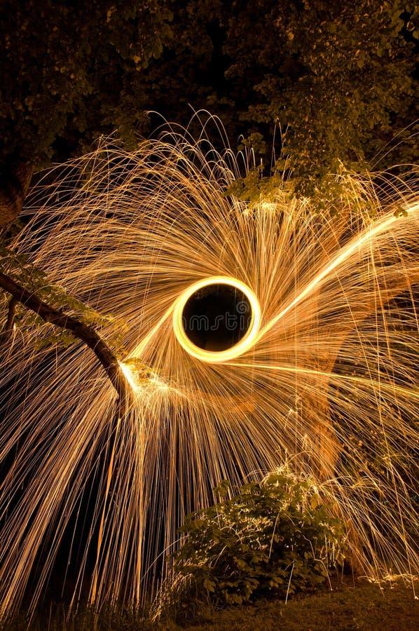 Stalowej wełny ogień zdjęcie royalty free