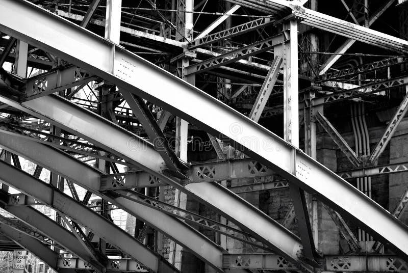 stalowi Brooklyn bridżowi poparcia zdjęcie royalty free