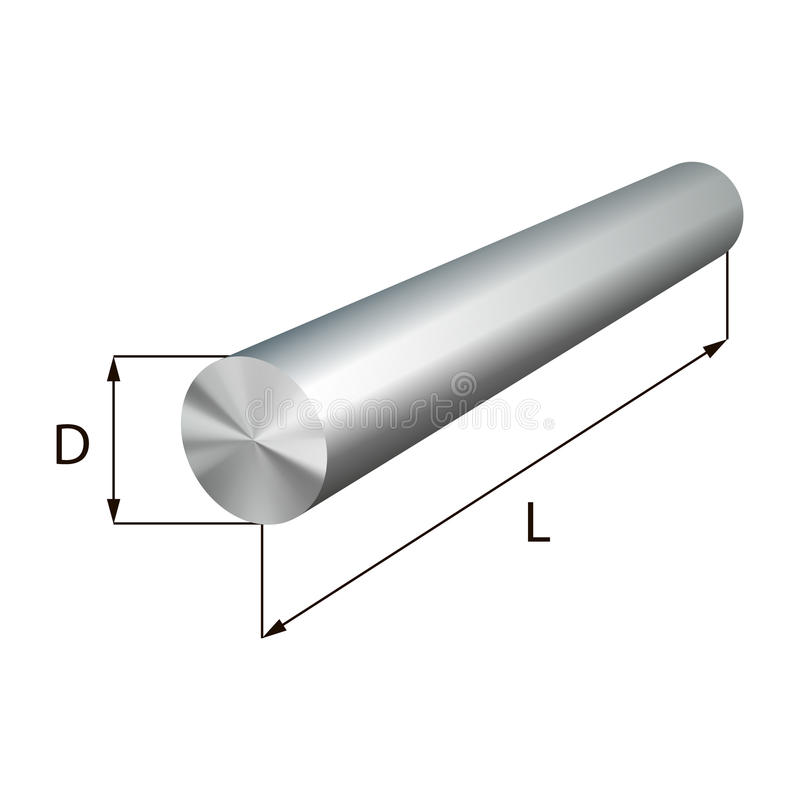 Stalowi round bary przemysłowego metalu przedmiota royalty ilustracja
