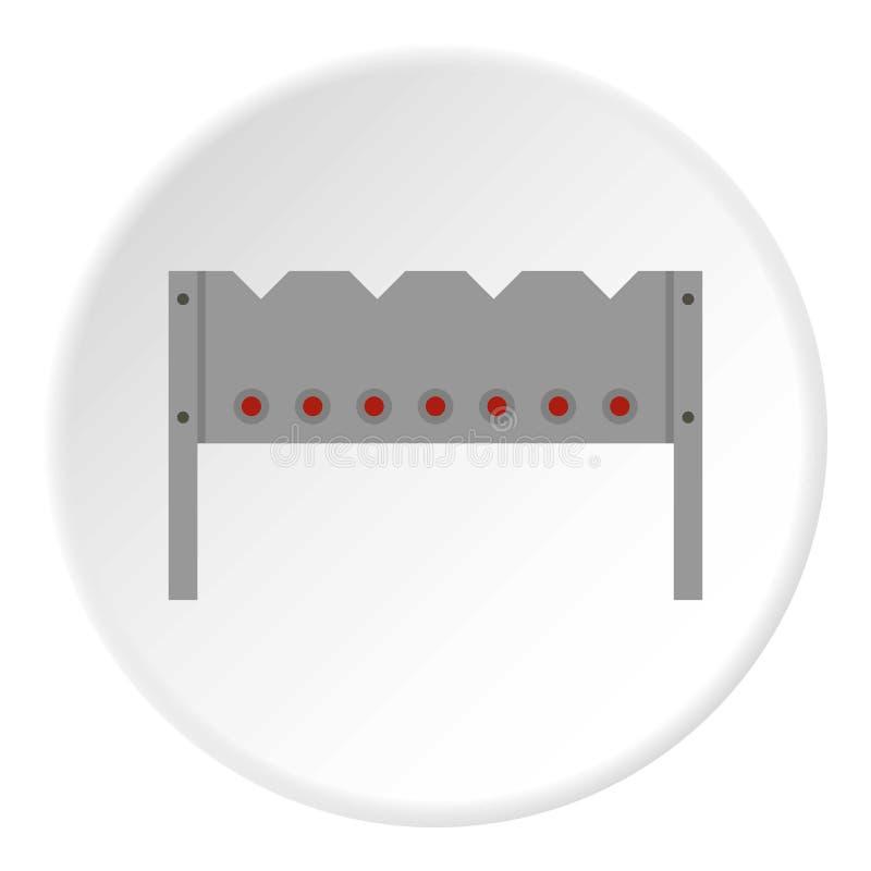 Stalowy brązownik ikony okrąg ilustracja wektor