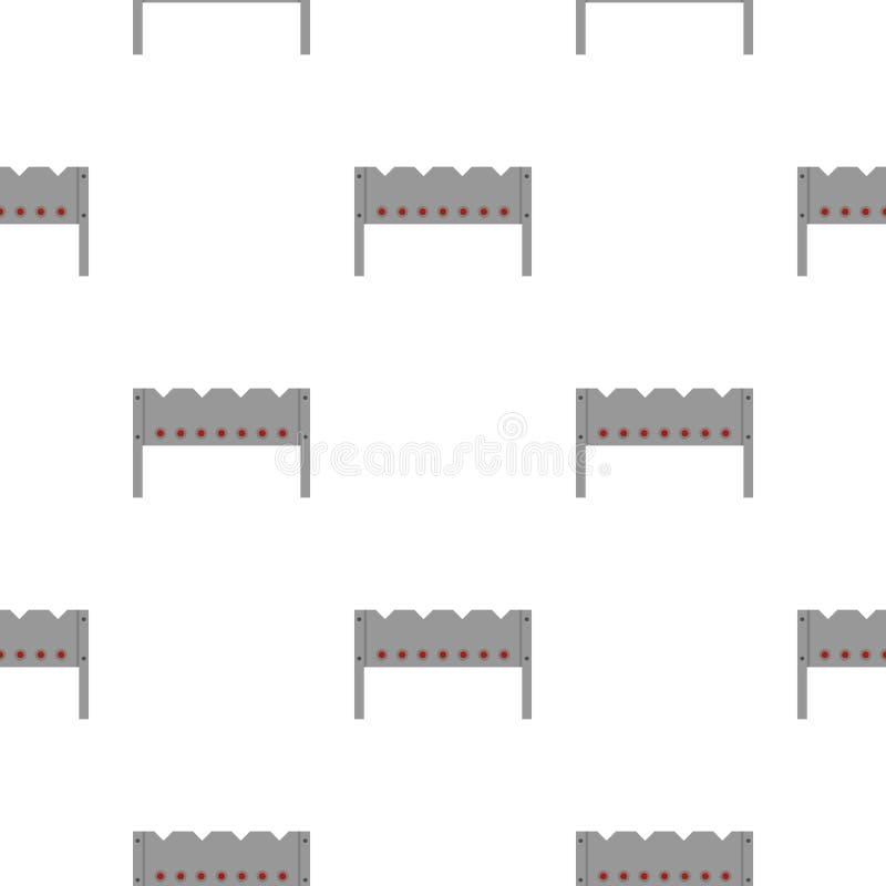Stalowy brązownika wzór bezszwowy ilustracja wektor