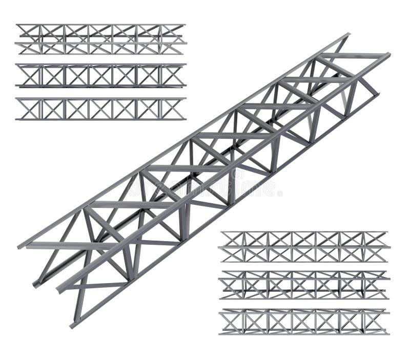 Stalowy kratownicowy stropnica set ilustracji