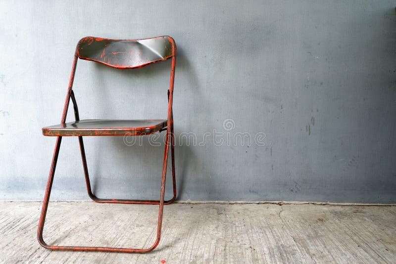 Stalowy krzesło zdjęcie stock