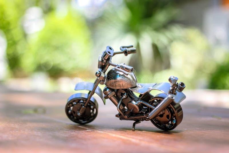 Stalowy siekacza motocyklu model zdjęcia stock
