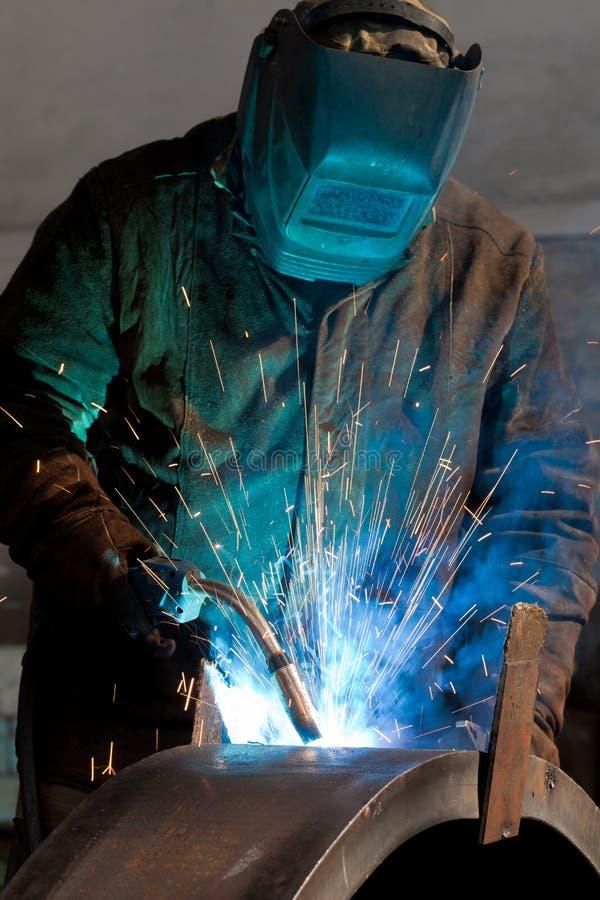 stalowy spaw zdjęcie stock