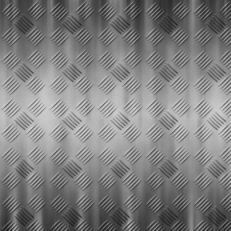 Stalowy tekstury tło, Srebny metalu tło royalty ilustracja