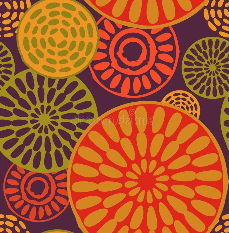 Stam-, afrikansk enkel sömlös modell royaltyfri illustrationer