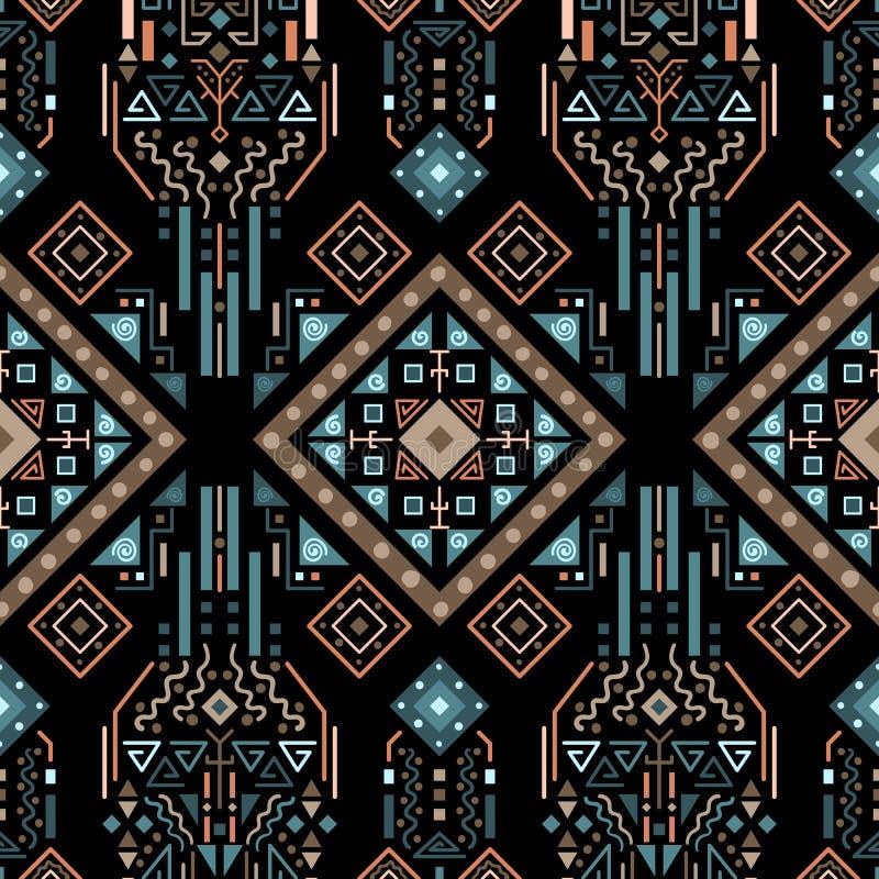 Stam- aztec sömlös geometrisk modell royaltyfria foton