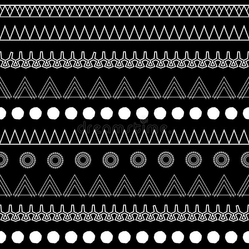 Stam- B&W royaltyfri illustrationer