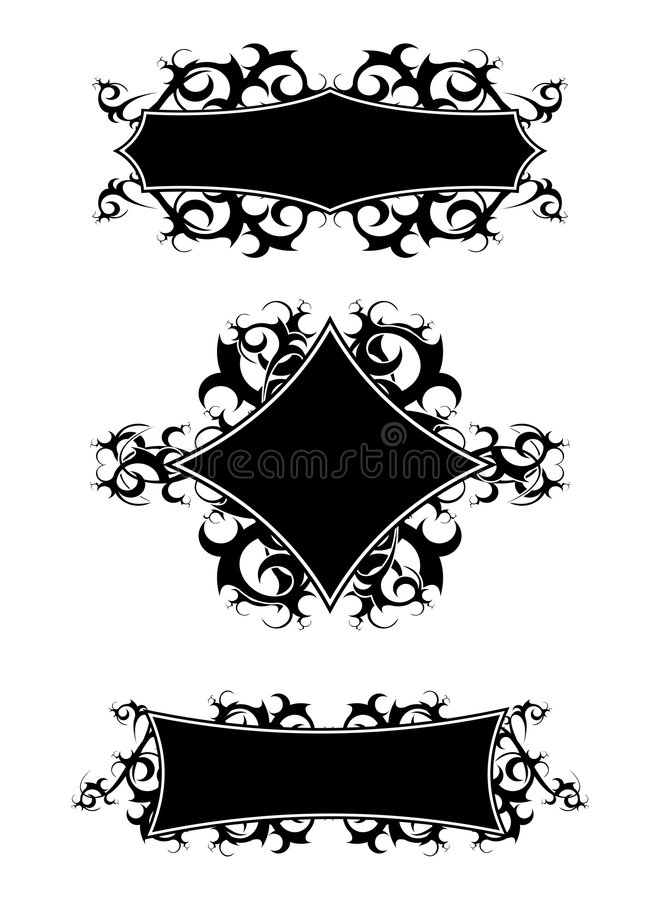 stam- baner royaltyfri illustrationer