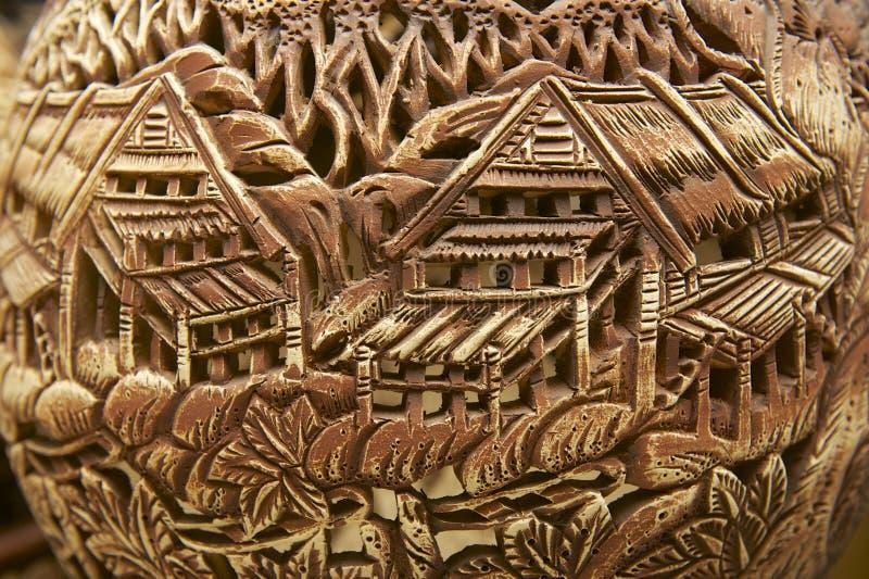 Stam- bevekelsegrundgarnering på traditionella souvenir, Kuching, Sarawak, Malaysia royaltyfria bilder