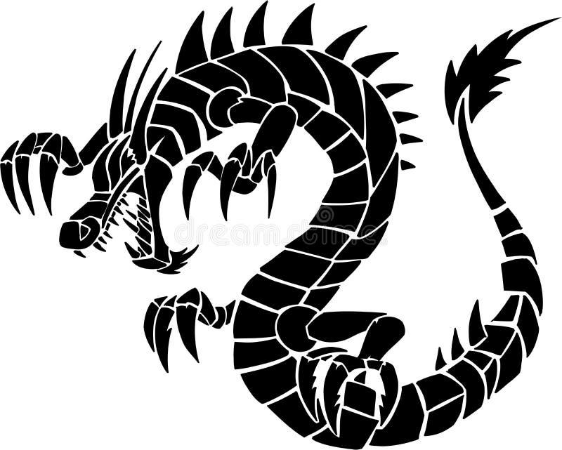 stam- draketatuering stock illustrationer