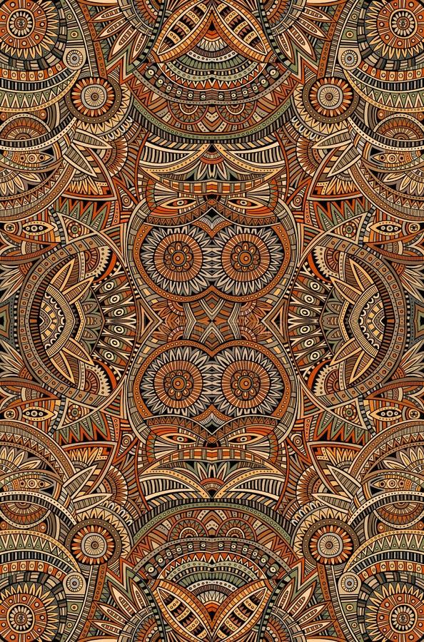 Stam- etnisk bakgrund för abstrakt vektor vektor illustrationer
