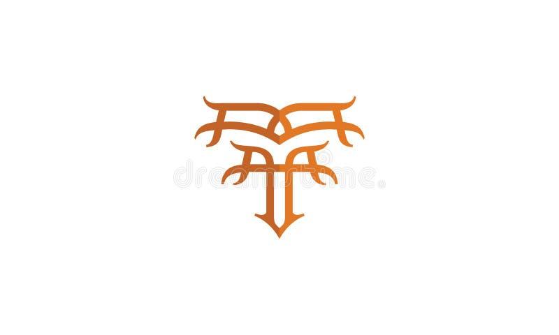 Stam- för logosymbol för initial T vektor royaltyfri illustrationer