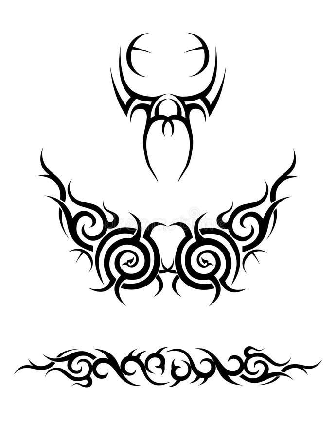 stam- illustrationssamling vektor illustrationer