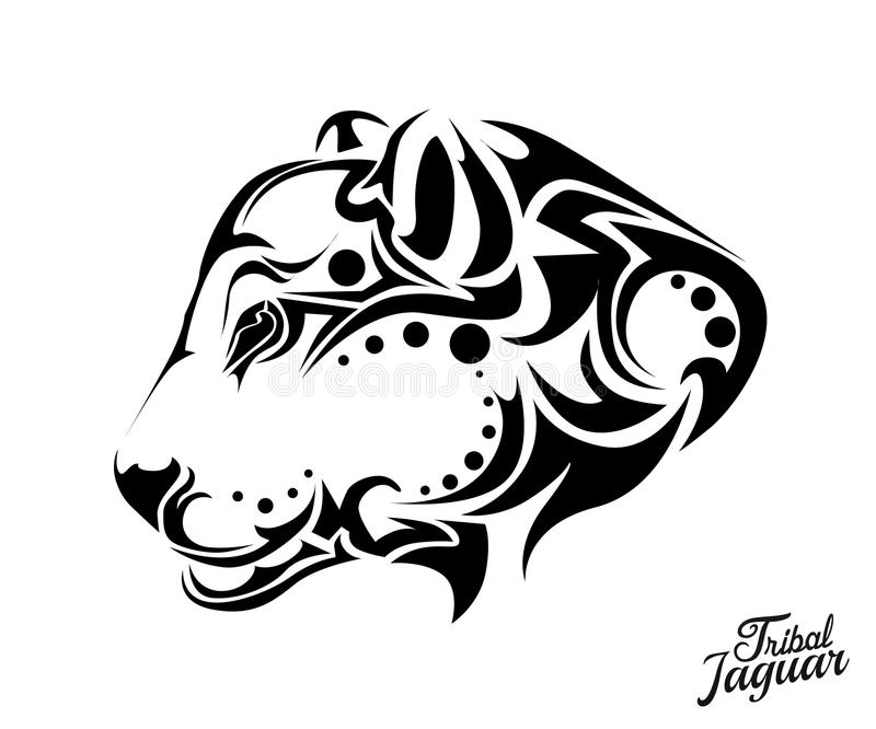 Stam- Jaguar tatuering vektor illustrationer