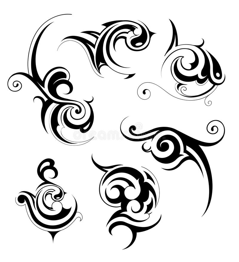 stam- konst vektor illustrationer