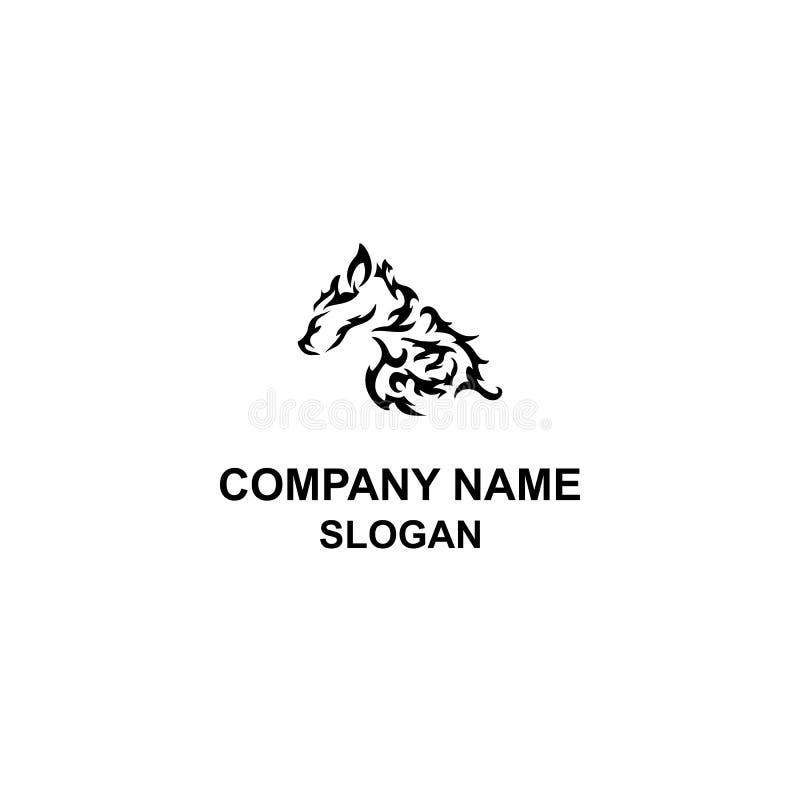 Stam- logo för hästhuvud vektor illustrationer