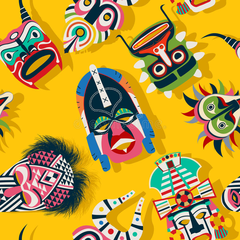 Stam- maskeringsperson som tillhör en etnisk minoritet vektor illustrationer