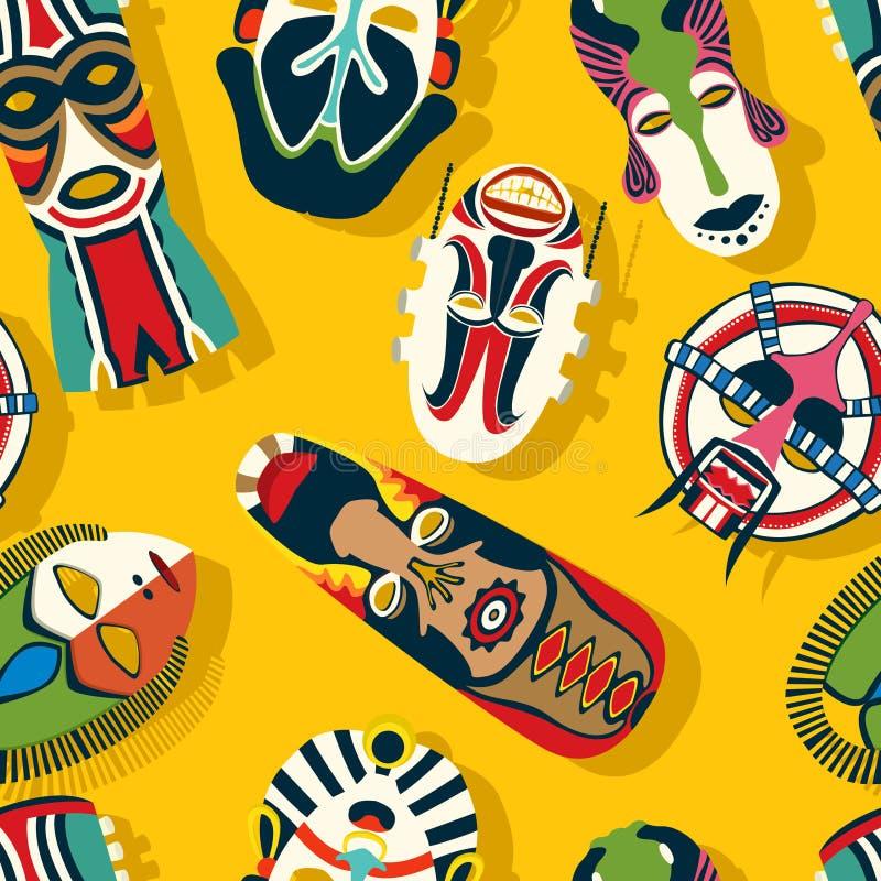 Stam- maskeringsperson som tillhör en etnisk minoritet stock illustrationer