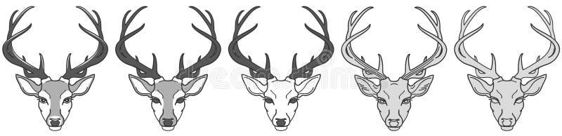 Stam- modell stock illustrationer