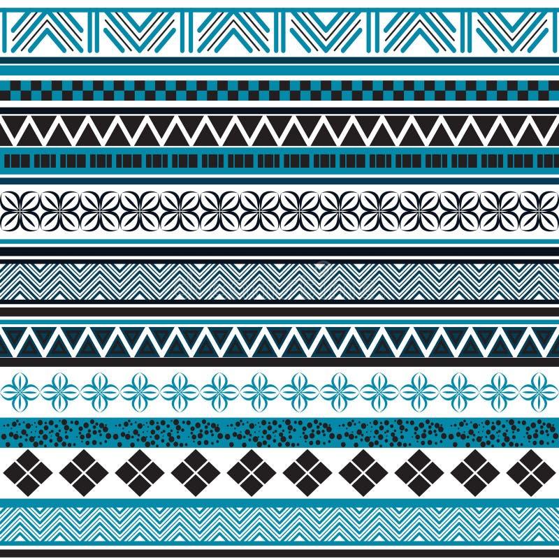 Stam- seamless mönstrar Abstrakt bakgrund med den etniska prydnaden royaltyfri illustrationer