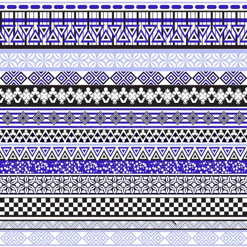 Stam- seamless mönstrar Abstrakt bakgrund med den etniska prydnaden vektor illustrationer