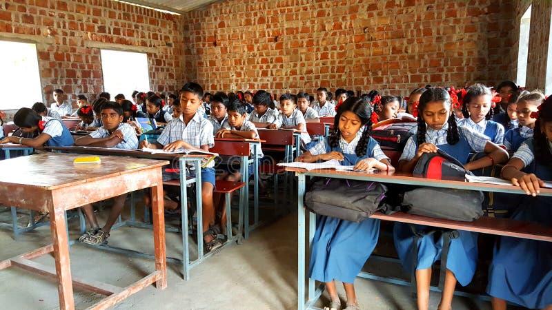 Stam- skola i Indien royaltyfria foton