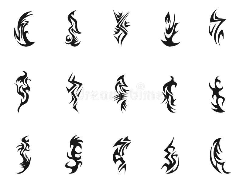 Stam- tatueringsymboldesign vektor illustrationer