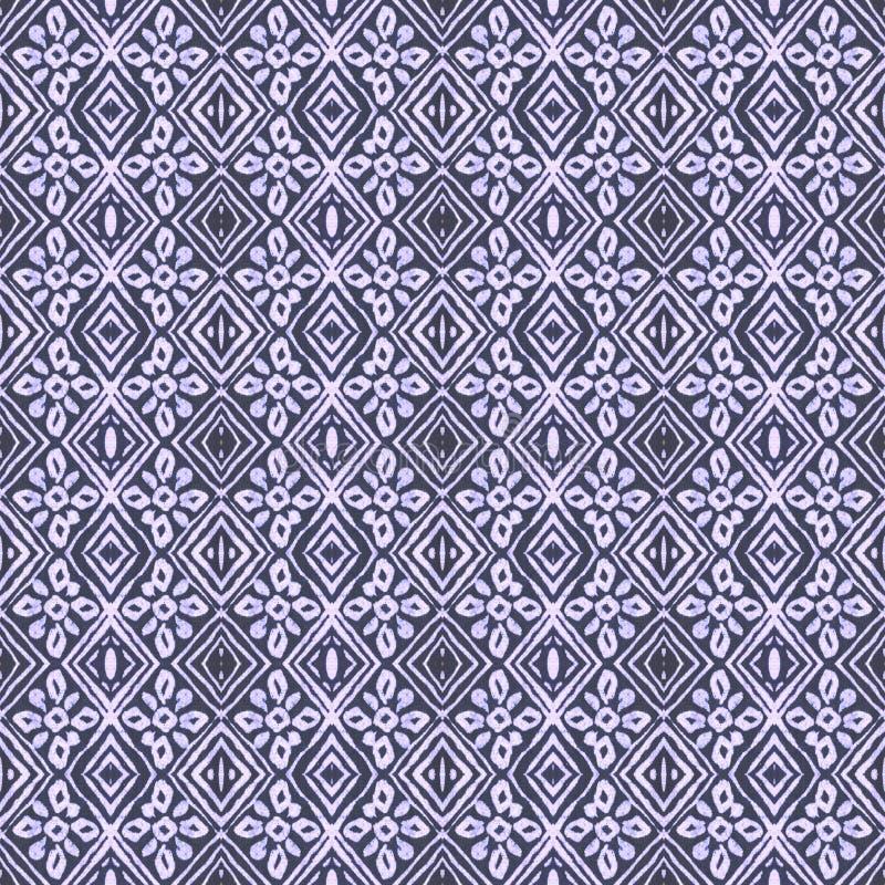Stam- tegelplattamodell för Batik vektor illustrationer