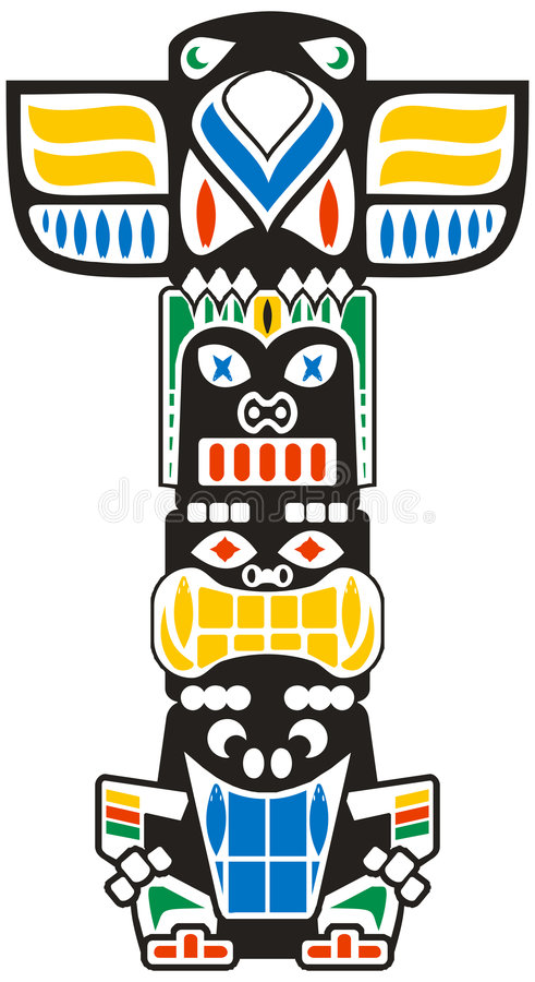 stam- totem vektor illustrationer