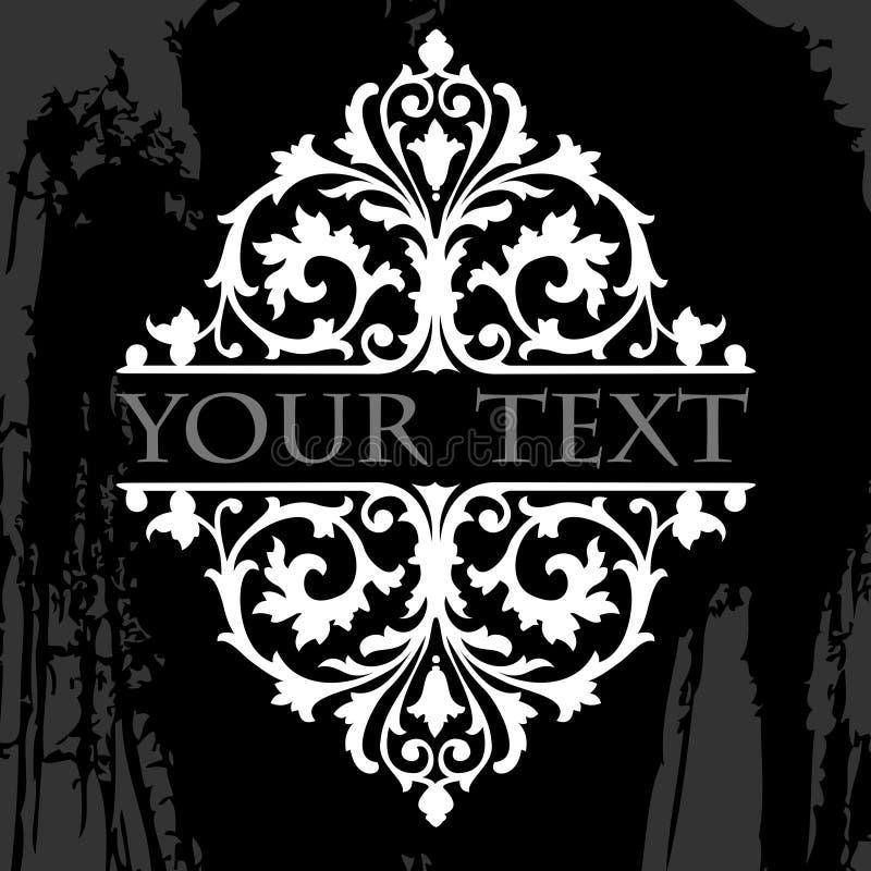 stam- utsmyckad kvadrat för grunge royaltyfri illustrationer